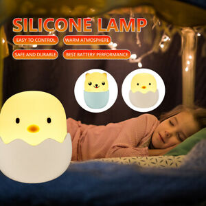 LED Night Light Lamp Cute Silicone Cat 7Color Change Kids Bedroom Room Gift Girl