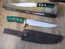 "12"" CHIPAWAY CUTLERY FIXED BLADE UTILITY KNIFE 440 GERMAN S.S. HARDWOOD HANDLE"
