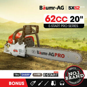 Baumr-AG 62cc Petrol Commercial Chainsaw 20  Bar E-Start Pruning Chain Saw