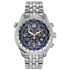 Citizen Men's AT0361-57L Eco-Drive Chronograph Blue Dial Stainless Steel Watch
