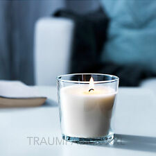 10 x Duftkerze Kerze im Glas Vanillearoma 25 Std. Brenndauer Vanille WEISS NEU