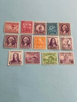 US Stamps Scott # 716 - 729..mint Hinged