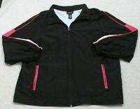 Avenue Black Athletic Jacket Coat Woman's Exercise Polyester Size 18/20 Zip Up