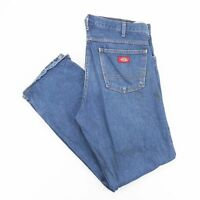 Vintage DICKIES Blue Straight Fit Men's Worker Jeans W34 L32