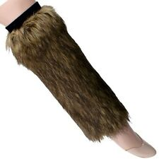NEW FLUFFY SOFT FAUX FUR BOOT CUFF TOPPERS ~ BROWN FURRY LEG WARMERS #LGF302