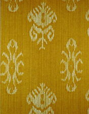 BRUNSCHWIG & FILS Kitab Cotton Print Ikat Ochre Remnant New