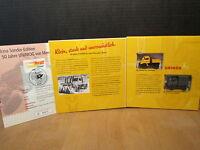 Brekina Set 50 Jahre UNIMOG mit UNIMOG 411 in gelb und grau der DBP 1:87 H0
