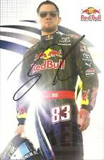 2009 BRIAN VICKERS #83 RED BULL NASCAR POSTCARD SIGNED