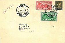 VOLI AIRMAIL : LONGHI 2700 -  ROMANIA : TIRANNA - SALONICO 1932