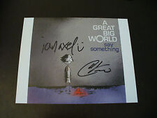 "A Great Big World In Person Hand Signed ""Say Something"" 10x8 Photograph W/COA #1"
