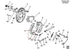 WASHER Brake Shoe Hold Down Pin GENUINE GM 05461146 1988-1991 C/K2500, C/K3500