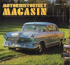 Motorhistoriskt Magashin Swedish Car Magazine #3 1988 Hudson 031617nonDBE