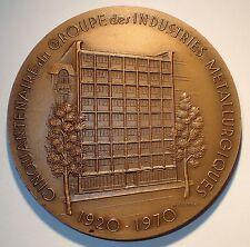 Medaille - Industrie Metallurgiques de la Region Parisienne 1920-1970 (A266)