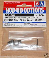 Tamiya 53964 48 Pitch Pinion Gear (16T, 17T) (TRF501x/TRF511/DB01), NIP