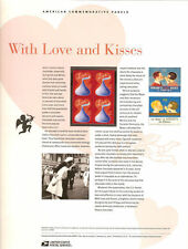#784 39c With Love and Hershey's #4122 USPS Commemorative Stamp Panel