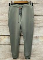 Under Armour Joggers Mens Size Large Sage Green Poly Knit Loose Fit Pants New
