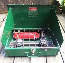Vintage Coelaman 425F Camp Cooking Stove Propane 2 Burner
