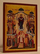 Ikone Maria Schutz und Fürbitte Icon Holy Protection Icona Icone Icono икона