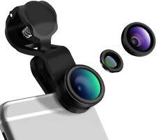 iPhone Lens Clip On 180 Degree Fish Eye Lens+0.65X Wide Angle+10X Macro Lens