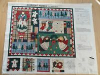 Starlight Angel Christmas Wall Hanging Quilt Fabric Panel Leslie Beck Cranston