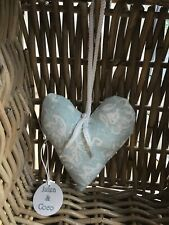 Laura Ashley hanging heart in a pretty duck egg blue lavender scented sachet