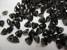 14 cubic zirconia trillion checkerboard stones,8x8mm black