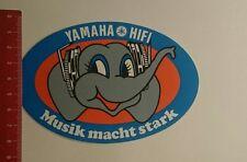 Aufkleber/Sticker: Yamaha Hifi Musik macht stark (13121619)