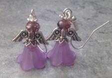 Christmas Purple Guardian Angel Xmas Angel Fairy Earrings Unwanted Gift