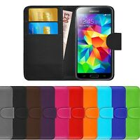 Premium Luxury Leather Flip Wallet Book Case Cover For Samsung Galaxy S5
