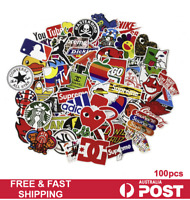 100 Logo Stickers Vinyl Decal Brand Logo Skateboard Laptop Car Bomb Bike Luggage