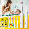 5 Modes Sonic Smart Timer Electric Toothbrush Rechargeable + 3  Soft Heads Brush
