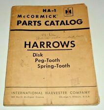 Ih International Disks Amp Harrows Parts Catalog Manual Ha 1 Original Ihc 38 136