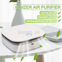 Mini Air Purifier Portable Air Cleaner Ozone Anion Generator USB Rechargeable