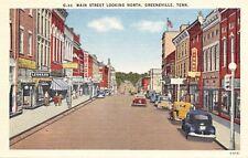 Greenville Tennessee~Main Street~Disney Furniture Store~Leonard~1940s Linen PC