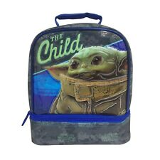 """STAR WARS """"The Child"""" insulated lunch bag. 2 Section. Disney Lucasfilm Baby Yoda"""