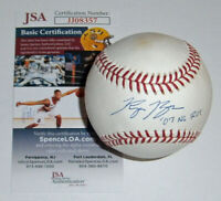 BREWERS Ryan Braun signed baseball w/ '07 NL ROY JSA COA AUTO Autographed Milw