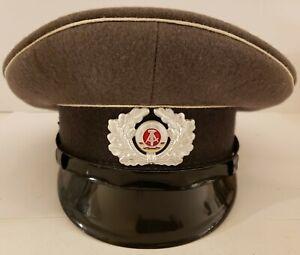 Vintage East Germany Gray Army Officer's Visor Hat Peaked Cap 1925 A NVA 57