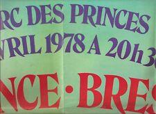 SUPERBE POSTER AFFICHE 1 AVRIL1978 FRANCE/BRESIL PARC DES PRINCES BOSSIS