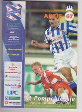 Programme / Programma SC Heerenveen v FC Utrecht 15-12-2002