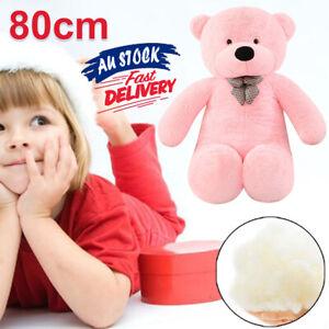 80cm Stuffed Doll Christmas Pink Gift Bear Teddy Plush Giant Cuddly Animal ACB#