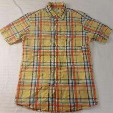 Uniqlo Men's Size Medium short Sleeve Shirt Button Collared Check - HS28