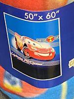Lightning McQueen Cars Disney Fleece Blanket Throw NEW RARE ITEM