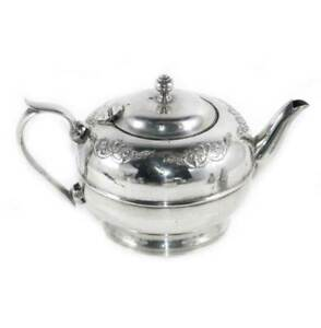 Vintage LINTON Australia EPNS silver plated ornate teapot with infuser