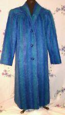 Vintage 1950's Wool & Mohair Jewel Tones Swing Coat Blue Purple Green Elegant