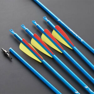 """31"""" SP550 Aluminum Shaft Arrows 3inch Vanes Spine 550 Archery Hunting Shooting"""
