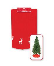 90CM LUXURY THICK RED CHRISTMAS FELT TREE SKIRT DECORATION