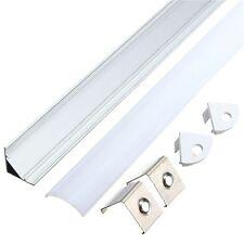 50CM Aluminum Channel Holder For LED Strip Light Bar Under Cabinet Lamp V Style