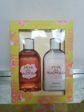 Crabtree & Evelyn London Pear and Pink Magnolia Body Wash AND Body Lotion 8.4 oz