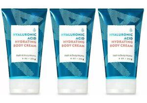 3 Bath Body Works Hyaluronic Acid Hydrating Body Cream 8 oz NEW