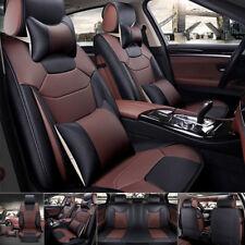 5 Sitze Auto Sitzbezug Vorne + hinten Microfaser PU Leder Kissen Kissen Saison